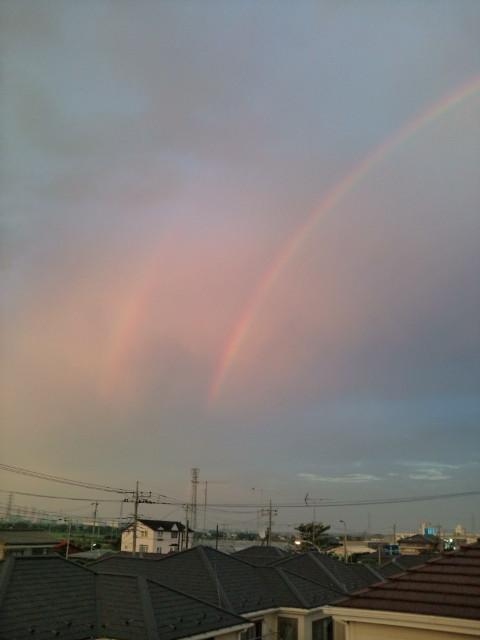 岩盤浴と虹